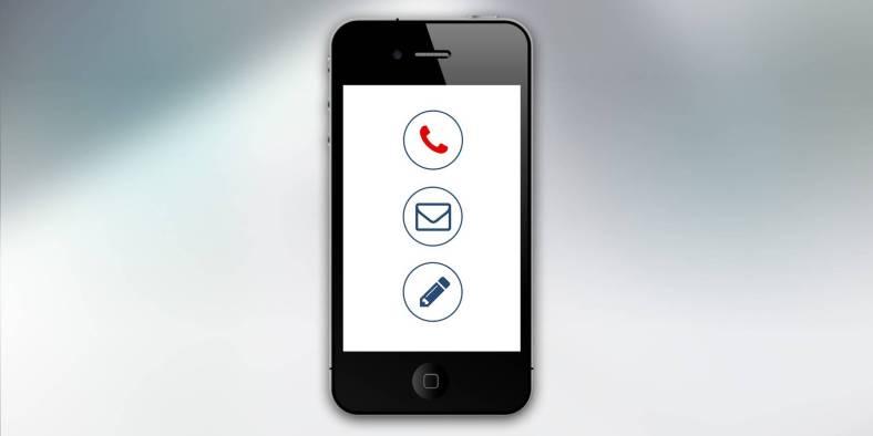 cellulaire communication connexion contact